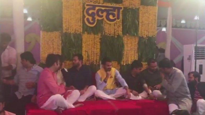 Tej Pratap Yadav and Aishwarya Rai Wedding: Lalu Yadav's Son & RJD Leader's Mehendi Ceremony in Patna, See Pictures