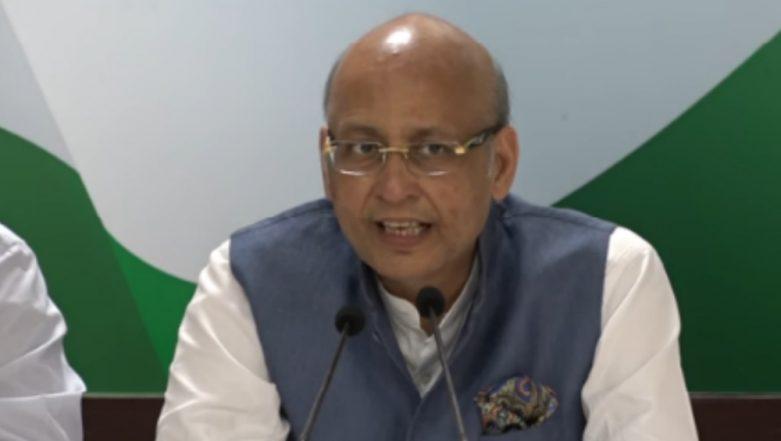 Abhishek Manu Singhvi Condemns 12 Telangana Congress MLAs Joining TRS, says 'It Happened Due to Money Power'
