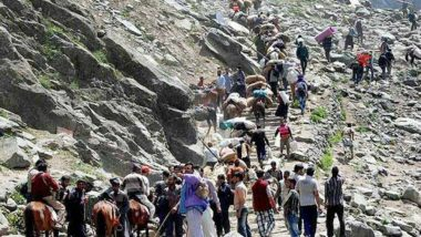 Amarnath Yatra 2021: Pilgrimage to Himalayan Cave Shrine in J&K to Begin From June 28; Amarnath Shrine Board to Enable Live Telecast of Morning and Evening Aarti for Devotees