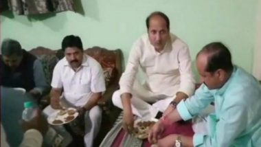 UP Minister Suresh Rana Visits Dalit Home for Dinner but Orders Food and Water from Caterers, Sparks Controversy