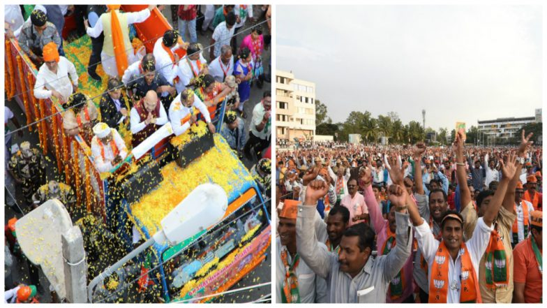 Karnataka Assembly Elections 2018: Mega Road Show of BJP Leaders on Last day of Campaigning, Schedule and Place