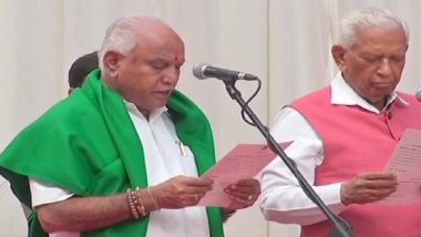 BS Yediyurappa's Swearing-In Ceremony Live Streaming on TV9 Kannada: Watch BSY Taking Oath as Karnataka Chief Minister