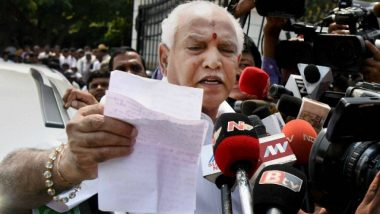 BS Yeddyurappa Stakes Claim to Form Government in Karnataka, to Take Oath as Chief Minister Today