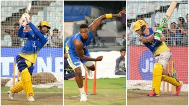 IPL Diaries 2018: See Pictures of Chennai Super Kings' Practice Session Ahead of their Kolkata Knight Riders Match at Eden Gardens
