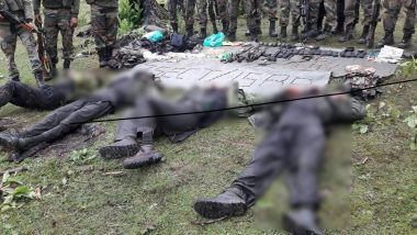 Jammu and Kashmir: Four Terrorists Killed in Encounter in Kupwara During PM Narendra Modi's Visit to the State
