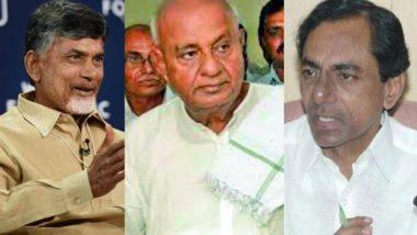 Opposition Comes Together: Andhra Pradesh & Telangana CM Ensures Protection to MLAs Over Karnataka State Politics Uproar