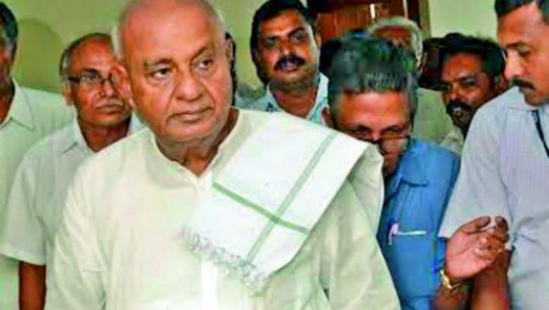 Congress-JD(S) to Break Up? HD Deve Gowda Doubtful of Kumaraswamy Govt Surviving Full Term