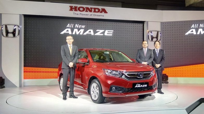 New Honda Amaze 2018 Launched; Price in India Starts from Rs 5.59 Lakh