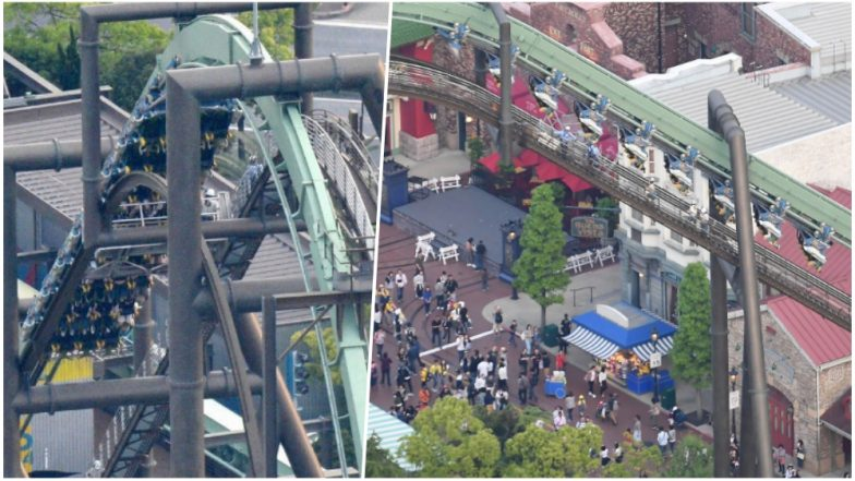 Riders left dangling for hours as roller-coaster malfunctions at Universal Studios Japan