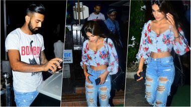 KL Rahul and Nidhhi Agerwal SPOTTED Leaving a Mumbai Eatery Together, Sparks Romance Rumours of Another Cricketer-Bollywood Actress Pair!