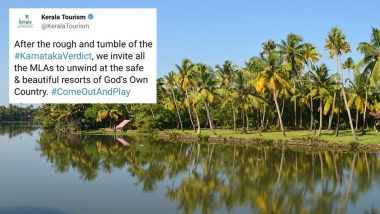 Kerala Tourism Offers 'Safe And Beautiful Resorts' to Karnataka MLAs as BJP, Congress, & JDS Look to Form Government in Hung Assembly