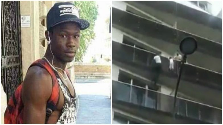 Paris 'Spider-Man' Mamoudou Gassama Climbs 4 Storeys in 30 Seconds to Save the Child (Watch Video)
