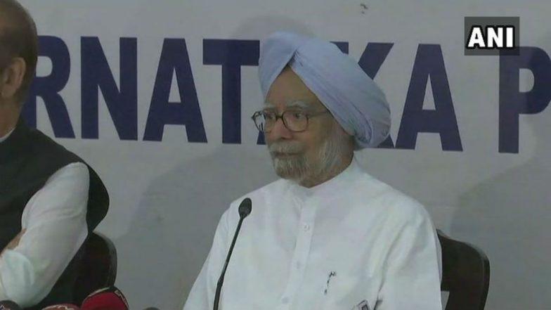 Karnataka elections: Manmohan Singh says economic growth, employment lagging under NDA rule