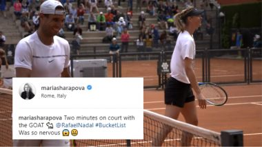 Maria Sharapova and New 'Hitting Partner' Rafael Nadal Practice in Rome But Leave Roger Federer Fans Fuming in Anger? Watch Video
