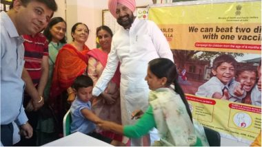 Measles-Rubella Vaccination Campaign Begins in Punjab, DC Gets His Daughter Vaccinated on the First Day Amid Rumours