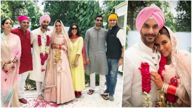 Neha Dhupia Angad Bedi Wedding Album: See Pictures of Celebrity Couple Marry in Traditional Anand Karaj Ceremony