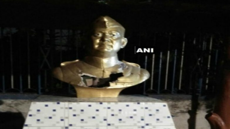 Netaji's statue vandalised in Kolkata