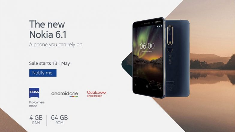 Nokia 6 (2018) 4GB Variant Online Sale on Amazon India from May 13; Prices, Features, Specifications & Other Details