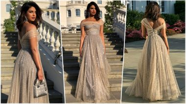 Priyanka Chopra Shines in Dior at Meghan Markle-Prince Harry Evening Reception: Indian Beauty's Fashion Moments at Royal Wedding Is Winning Hearts (See Pics)