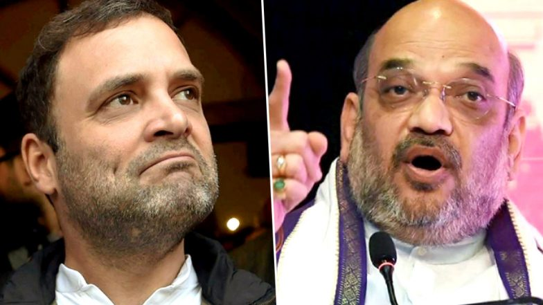 Amit Shah Hits out at Rahul Gandhi for 'Mockery of Constitution' Comment
