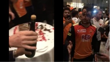 Rashid Khan Refuses to Have Champagne Post SRH's Win Over KKR in IPL 2018 Qualifier, Watch Video