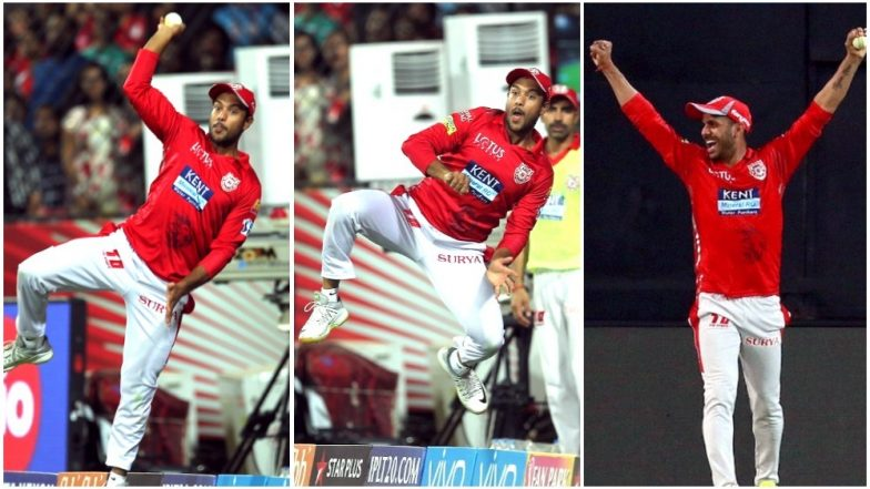 Mayank Agarwal, Manoj Tiwari join forces for relay catch during IPL match