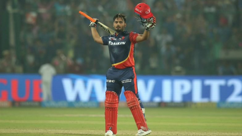 Pant smashes maiden IPL hundred to take Delhi to 187/5