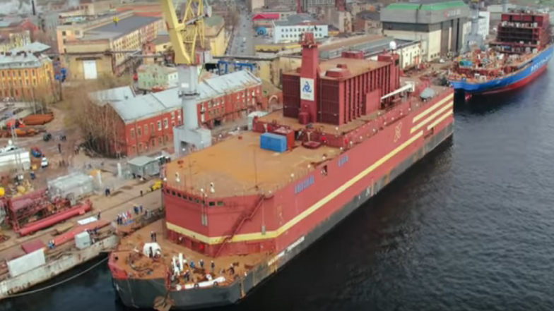 Russia Unveils World's First Floating Nuclear Power Station, Akademik Lomonosov in The Port City of Murmansk