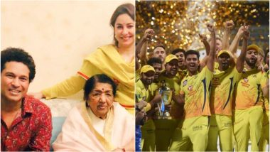 Lata Mangeshkar Invited Sachin Tendulkar and Wife Anjali to Watch IPL 2018 Final, See Picture of Two Bharat Ratnas in One Frame