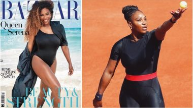 Serena Williams Sizzles in Black Monokini onHarper's Bazaar UK Cover, a Day After Slaying in a Catsuit at French Open 2018 (See Picture)