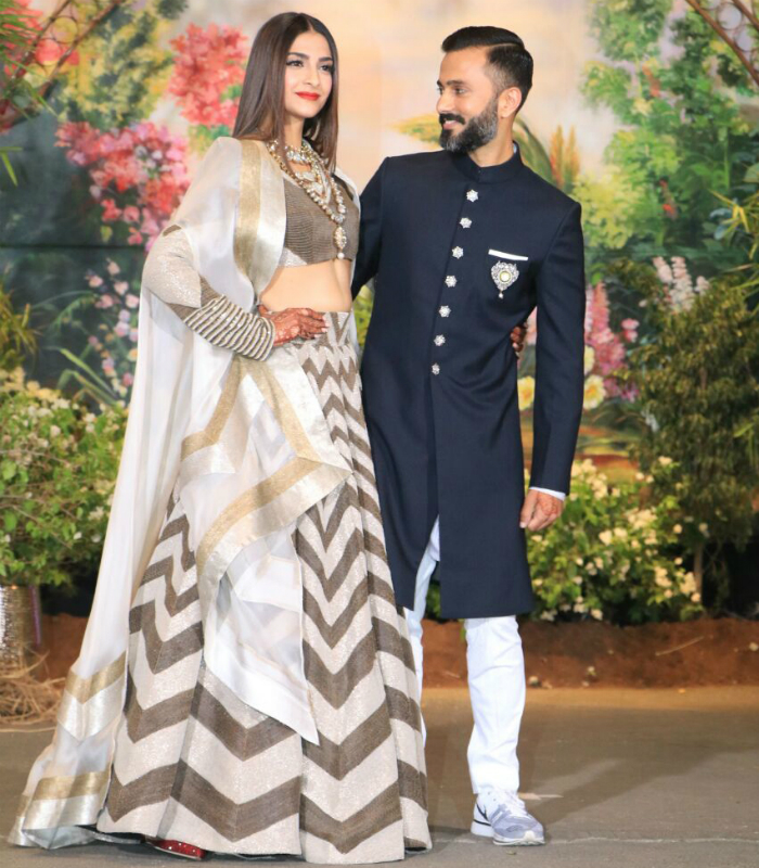 Sonam Kapoor Anand Ahuja Wedding Reception Outfits Are Chic And