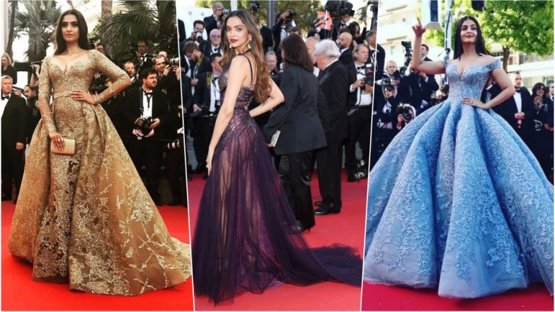 Deepika Padukone Shines in White Lace and Sheer at Cannes 2018