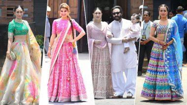 Who Wore What at Sonam Kapoor Anand Ahuja Wedding: Karisma Kapoor to Little Taimur Ali Khan, See Best Dressed Celebs from #SonamKiShaadi!