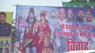 Tej Pratap Yadav and Aishwarya Rai Turn 'Shiv-Parvati' in Poster on Wedding Day