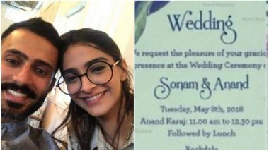 Sonam Kapoor and Anand Ahuja's Wedding Card is out and here's what it Looks Like!