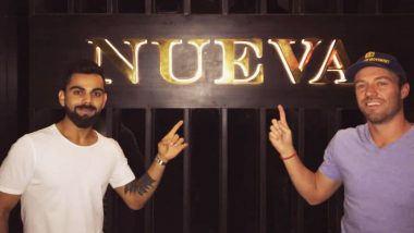 IPL 2018 Diaries: Captain Virat Kohli Hangs Out With AB de Villiers and Other RCB Teammates at His Nueva Bar & Dining Restaurant