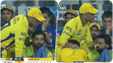 IPL 2018 Diaries Video: A fan Breaks the Security Cordon to Touch MS Dhoni's Feet During KKR vs CSK Match