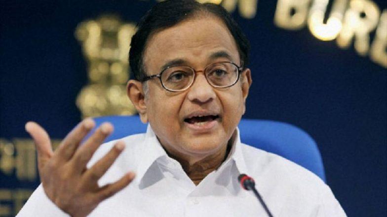 BJP's Policy Blunders Causing Economic Failure: P Chidambaram