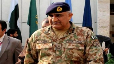 Pakistan Army Chief General Qamar Bajwa Visits LoC in PoK, Asks Troops 'to be Ready to Face Any Eventuality'