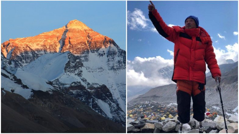 Double Amputee Chinese Man Xia Boyu Breaks Record to Reach Mount Everest from Nepal Side