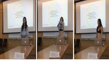 Cornell University Girl Strips Down To Underwear in Facebook Live Video While Thesis Presentation in Front of Professor Who Had Objected to her Shorts
