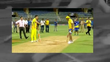 Lightning-Fast MS Dhoni Beats Dwayne Bravo in a Three-Run Dash, Watch Video