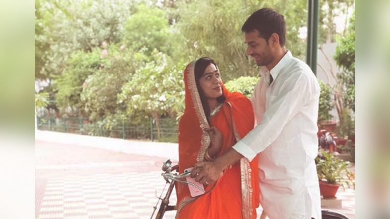 Tej Pratap Yadav Takes Wife Aishwarya Rai on a Romantic Bicycle Ride; See Pic