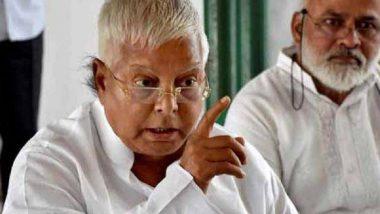 India Is Under Undeclared Emergency, Says RJD Leader Lalu Prasad Yadav