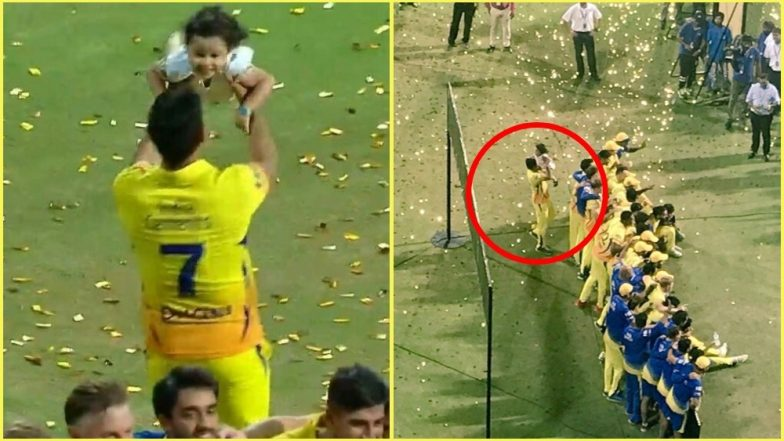 MS Dhoni Seen Playing With Ziva While CSK Players Celebrate With IPL 2018 Trophy, Picture Goes Viral