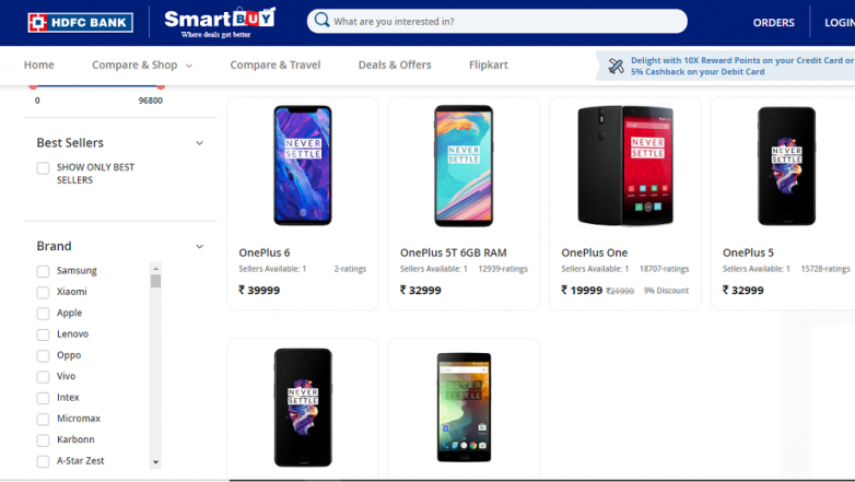 OnePlus 6 Price, Specifications & Features Leaked On HDFC's Smart Buy Page!