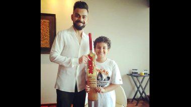 Virat Kohli Gifts a Bat for Sonu Nigam's Son Nevaan