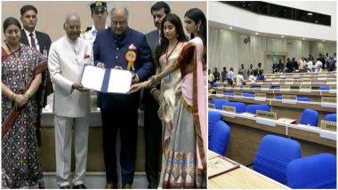 National Film Awards 2018: Boney Kapoor, Jahnvi, Khushi Accept Award on Late Sridevi's Behalf, as 65 Winners Skip Event in Protest
