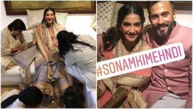 First Pics Out! Sonam Kapoor and Anand Ahuja Beam with Happiness as Mehendi Ceremony Begins; More Pics Inside