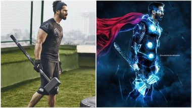 Shahid Kapoor Wields a Hammer Like a Boss in His Latest Insta Pic; Fans Already Reimagine Him as Thor!
